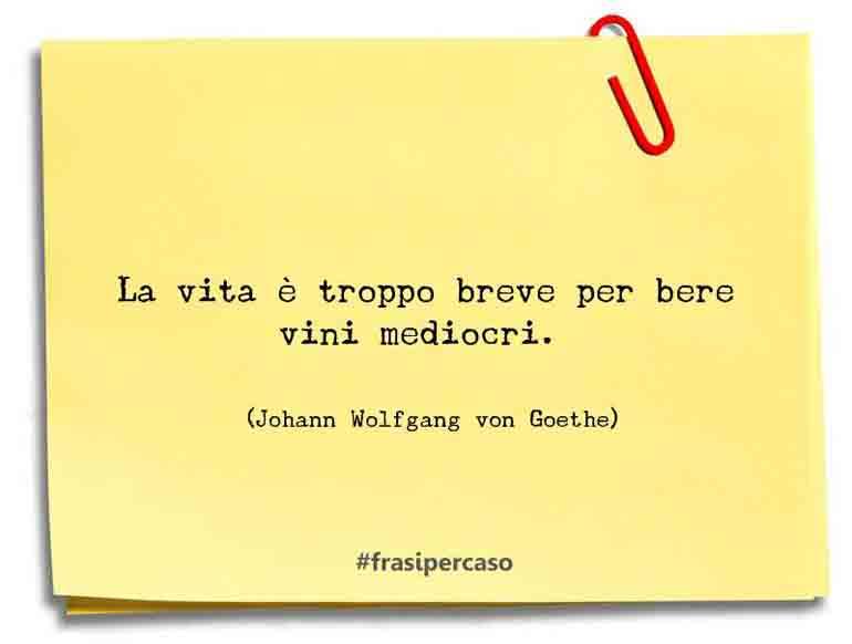 Una citazione di Johann Wolfgang von Goethe by FrasiPerCaso.it