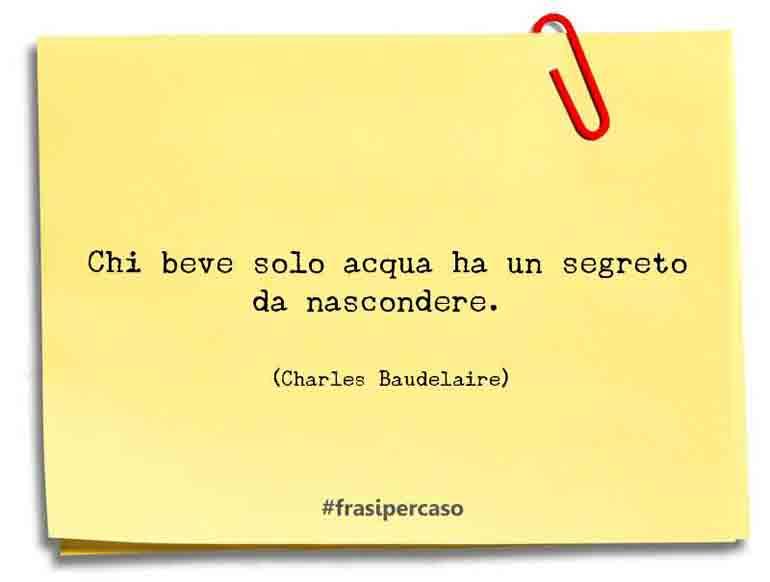 Una citazione di Charles Baudelaire by FrasiPerCaso.it