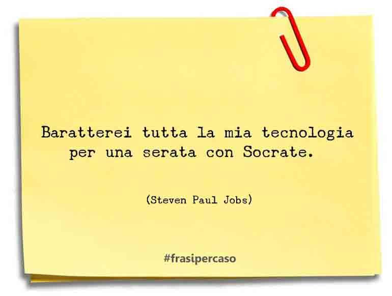 Baratterei tutta la mia tecnologia per una serata con Socrate.