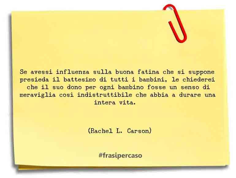 Una citazione di Rachel L. Carson by FrasiPerCaso.it